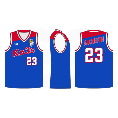 Ko3s Apparel Basketball Jersey - Royal Blue