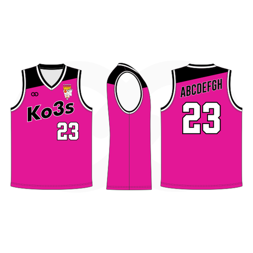 Ko3s Apparel Basketball Jersey - Pink
