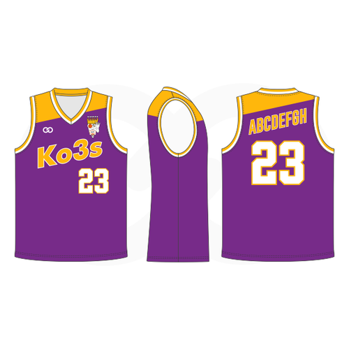 Ko3s Apparel Basketball Jersey - Purple