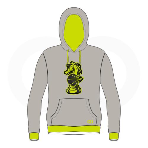 Checkmate Basketball Grey Hoodie