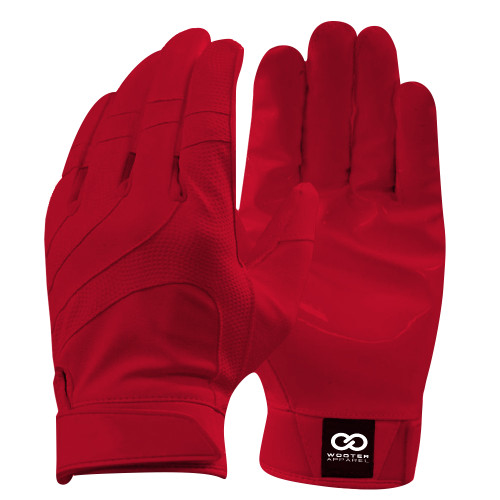Red Football Gloves - Red Football Receiving Gloves - Custom Football Gloves