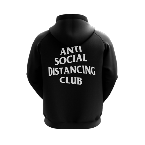 Anti Social Distancing Club Black Hoodie