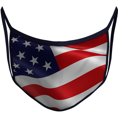 USA Flag Sublimated Reusable Mask