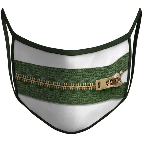 Zipper Sublimated Reusable Mask