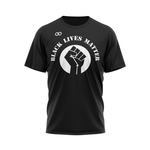 Black Lives Matter with Fist - Black Tee