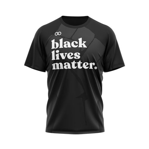 Black Lives Matter Ghosted Fist - Black Tee