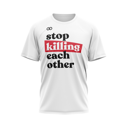 Stop Killing Eachother - White Tee