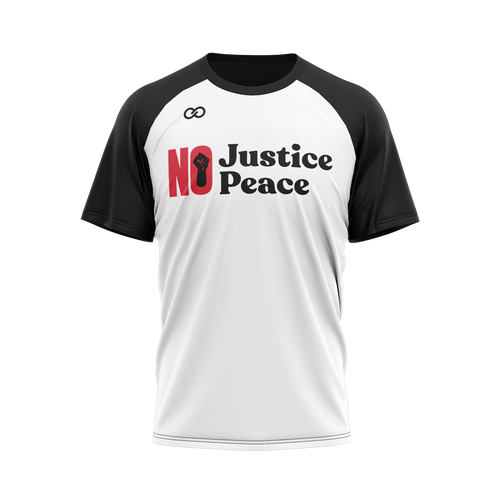 No Justice No Peace - White/Black Tee