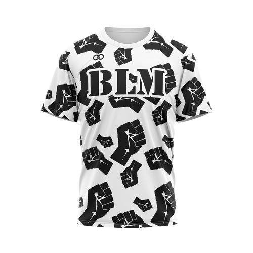 BLM with Fists - White Tee