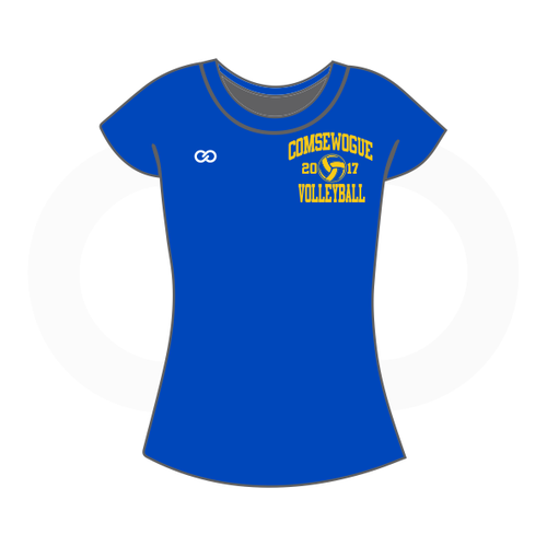 Wogue Warriors Volleyball  Ladies Short Sleeve T-Shirt