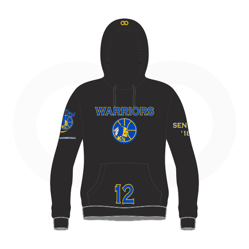 Wogue Warriors School Basketball  Sublimated Black Hoodie