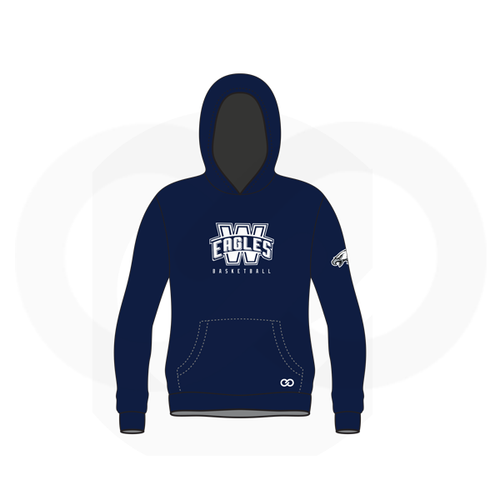 Wethersfield Eagles Basketball Sublimated Hoodie