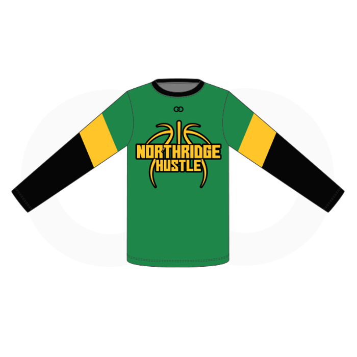 Northridge Hustle Basketball Long Sleeve Shooting Shirt - Green