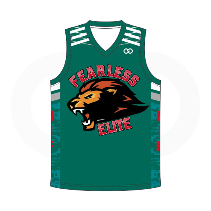 timeless design 3c66f 1d4fb Fearless Elite Basketball Jersey - Green