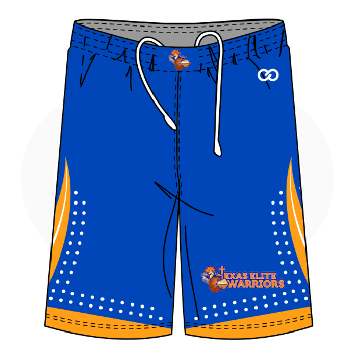 Texas Lady Warriors Basketball Shorts - Blue 1c56d31f3f99