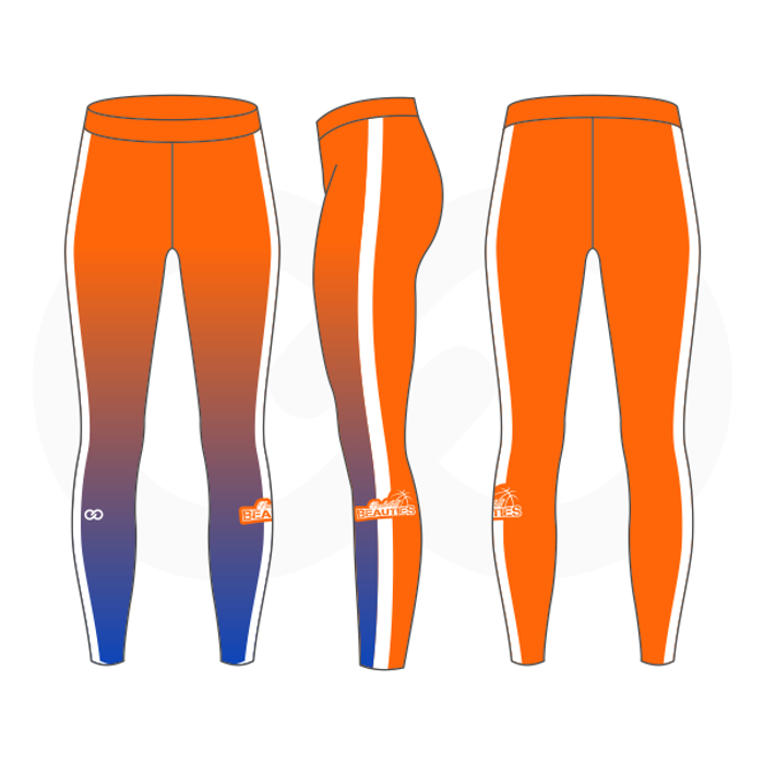 Basketball Beauties Compression Tights - Orange