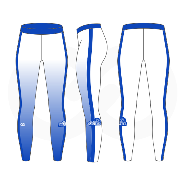 Basketball Beauties Compression Tights - White