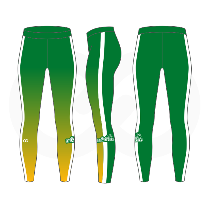 Basketball Beauties Compression Tights - Green