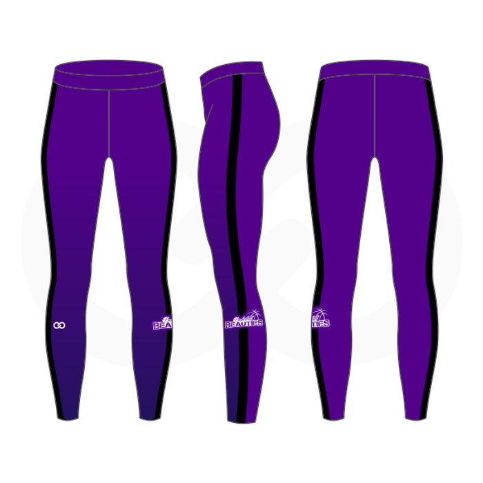 Basketball Beauties Compression Tights - Purple