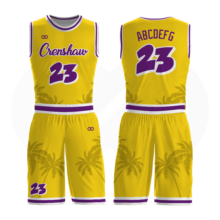 Crenshaw Basketball Uniform Full Set - Gold