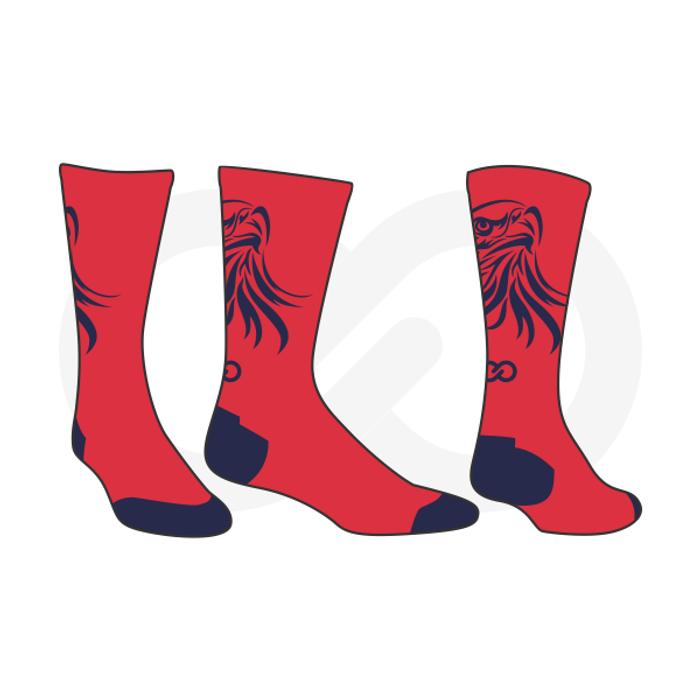 Stuttgart Eagles Basketball Socks - Red