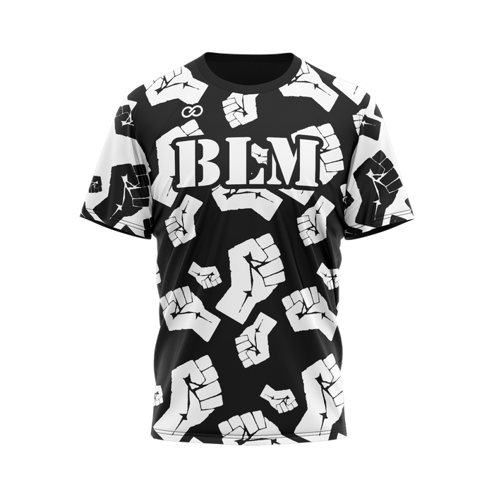 BLM with Fists - Black Tee