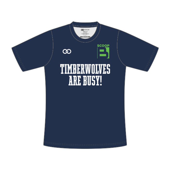 Scoop B Timberwolves are Busy - T-Shirt - Navy