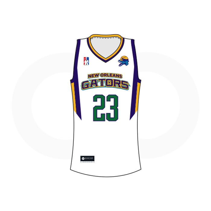 NOLA Gators White Basketball Jersey (Option 1)