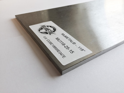 MuMETAL® Stress Annealed Plate