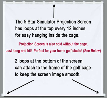 Golf Simulator Impact Projection Screen