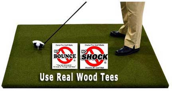 Use real wood tees