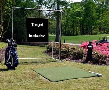 Commercial Golf Mat & Practice Net Combo - 3x5