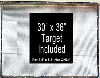 Dura-Pro  7.5' x 8.5' High Velocity Hang & Hit Golf Ball Net Impact Panel With Target