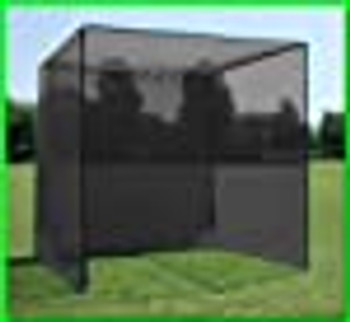 Dura-Pro Golf Cage with Screen Net, High Velocity Strong Impact Netting to Catch Balls, Double Back Stop and Target. All Weather Commercial Quality Materials (10x10x10 Feet)