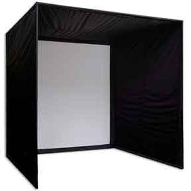 5 Star Golf Simulator Shadow Box Enclosure Kit With Screen (10 ft. Deep)