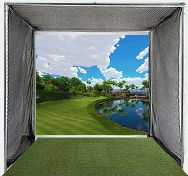5 Star Simulator Golf Cage with Impact/Projection Screen