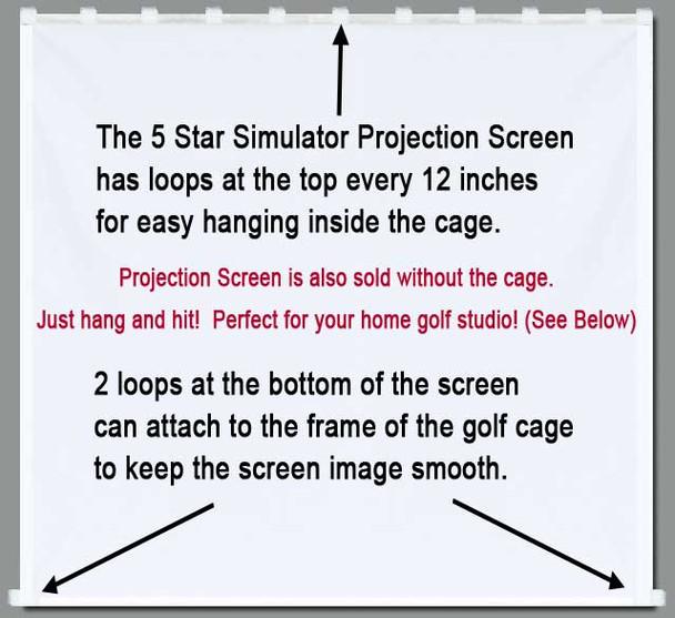 Golf Simulator Impact Projection Screen