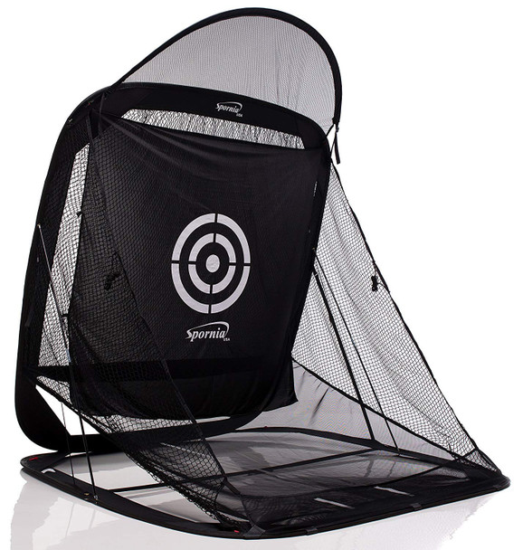 Star Automatic Ball Return Golf Net With Roof - Side View