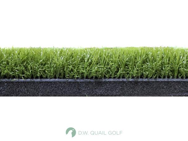 4'x5' - 5 Star Zoysia Fairway Golf Mat - Side View