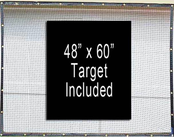 Dura-Pro 9' x 25' High Velocity Hang & Hit Golf Ball Net Impact Panel and Target