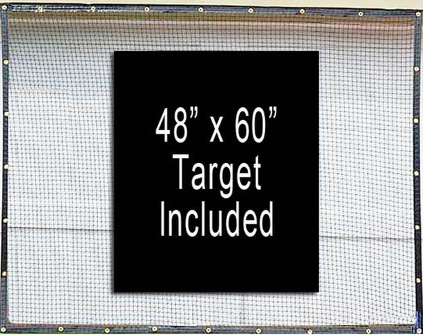 Dura-Pro 7' x 16' High Velocity Hang & Hit Golf Ball Net Impact Panel and Target