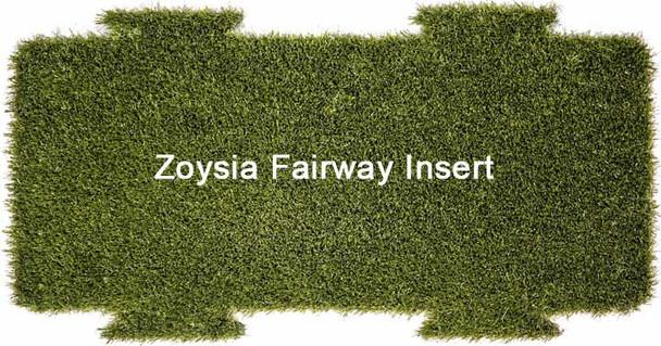 "5 Star Multi-Surface Zoysia Fairway Golf Mat Insert 12"" x 28"""