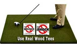 Martin Hall 5 Star Perfect ReACTION Wood Tee Golf Mats