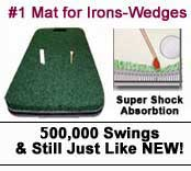 High Tech Golf Mat For Irons