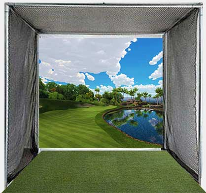 Golf Cage with Golf Simulator Projection Screen