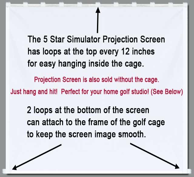 Golf Simulator Projection Screen