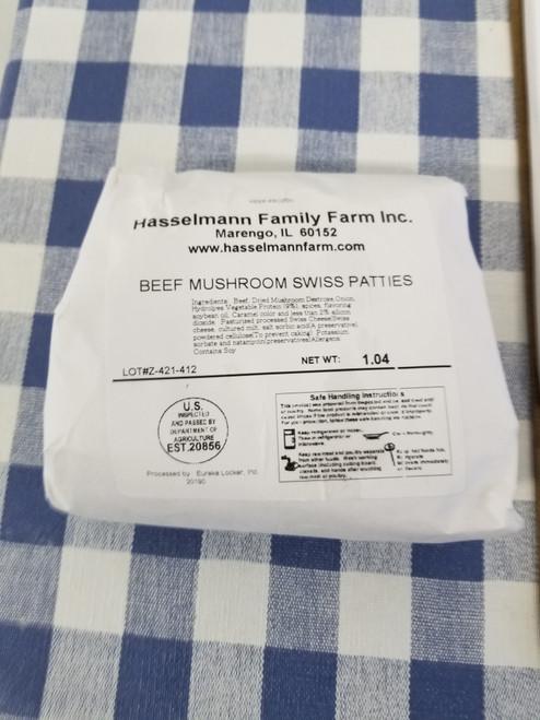 Beef Mushroom Swiss Patties On sale $9.75 !