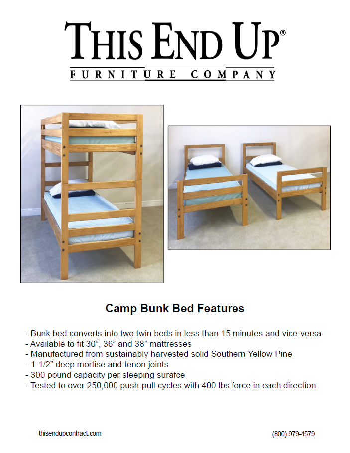 Camp Bed Tear Sheet