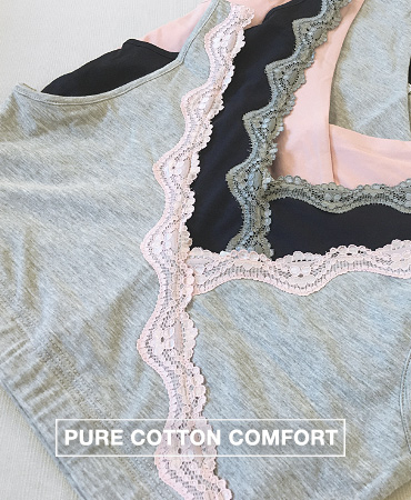 Next to skin comfort is most important when selecting a good bra for nursing. MEV's cross-front nursing bras are crafted in premium, ultra soft cotton that feels almost second skin.