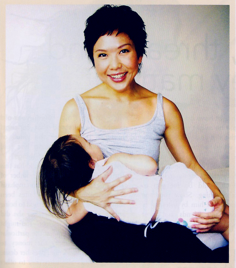 Sharon Ho-Norton, Mothers en Vogue breastfeeding her daughter.